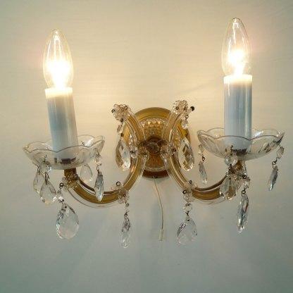 Paar Wandlampen Kristall