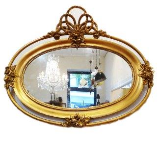Barockspiegel oval vergoldet