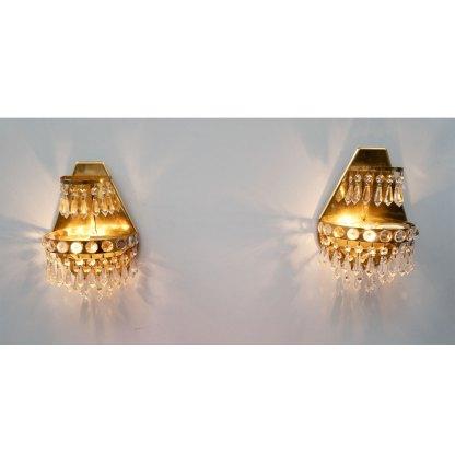Paar Wandlampen vergoldet