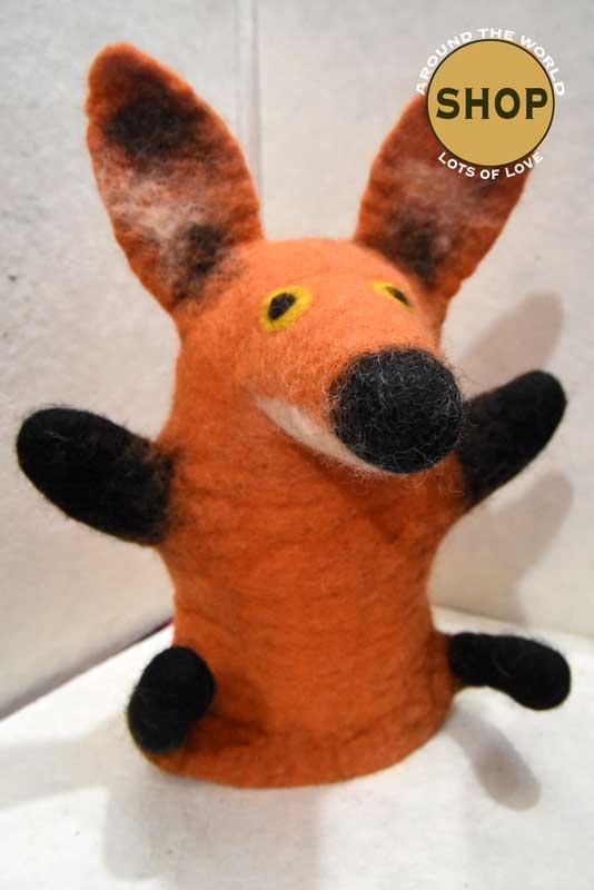 Handgemaakt vilt handpop rode vos 5398 Speelgoed, dieren. Shop Around the World