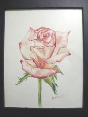 'Rose' in Watercolor - Art & Buff