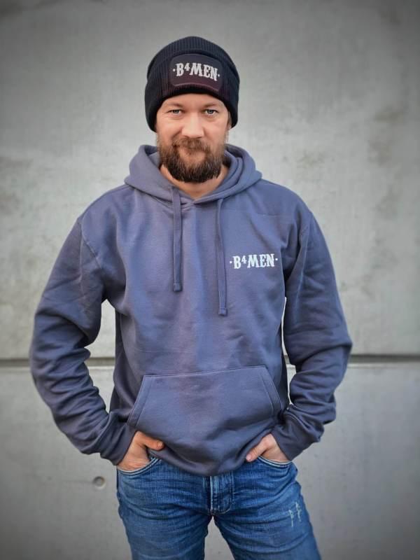Donker Grijze hoodie met lichte opdruk
