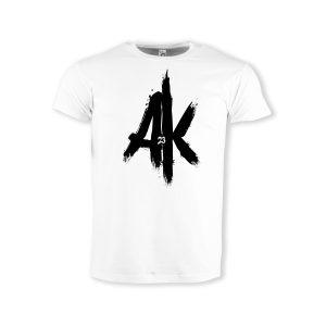 T-Shirt-white-AK-23-Logo-schwarz