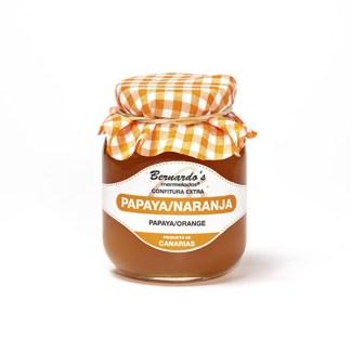 tarro de confitura extra de papaya-naranja de 240 gramos