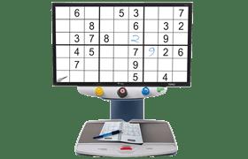 2 TOPAZ EZ HD Desktop Video Magnifier - Magnifying A Sudoku Game