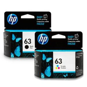 HP 63 F6U62AN F6U61AN Original Black and Tri-Color Ink Cartridge Combo Genuine Product from HP