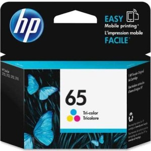 HP 65 N9K01AN Original Tri-Color Ink Cartridge Genuine Product from HP