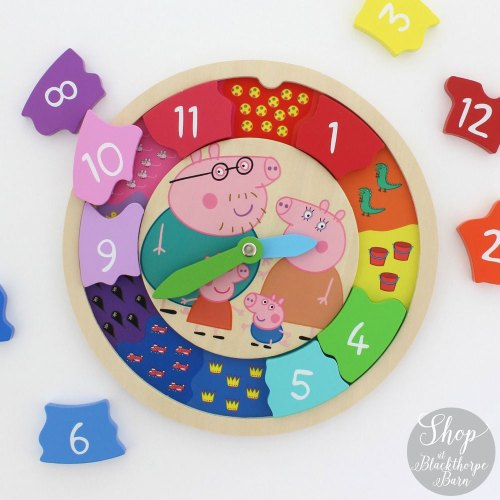Peppa Pig Wooden Clock