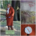 boiled wool Cardigan Coat Rust