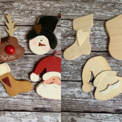 make your own father christmas decoration kit