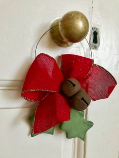 handmade holly door hanger