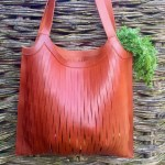 Leather Expanding Shopping Bag