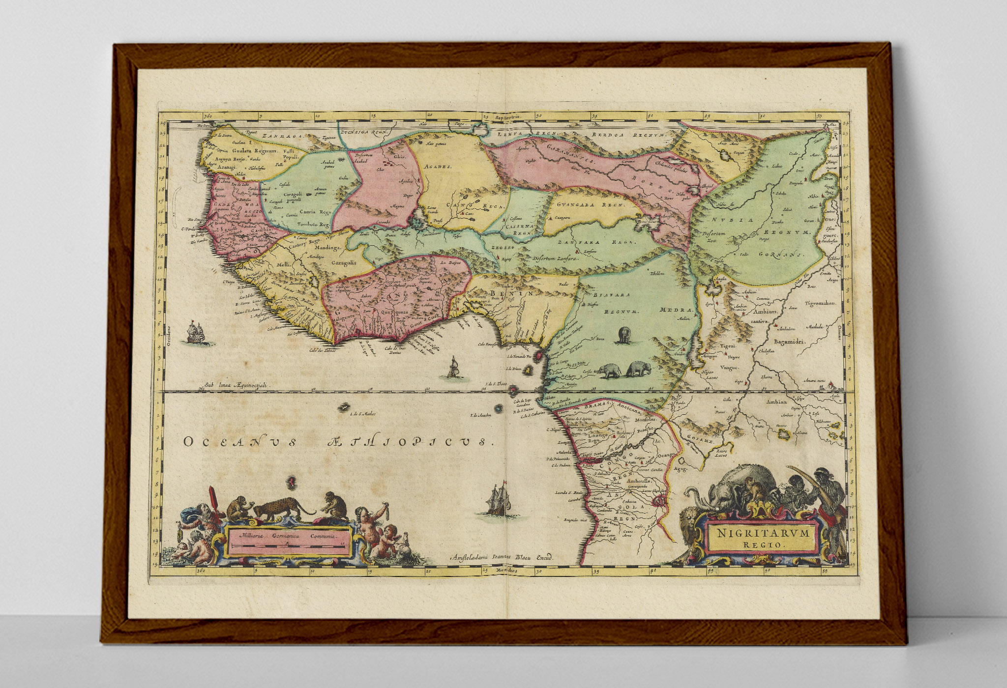 Old Map Of Nigeria Africa Country Map Blaeu Prints Buy