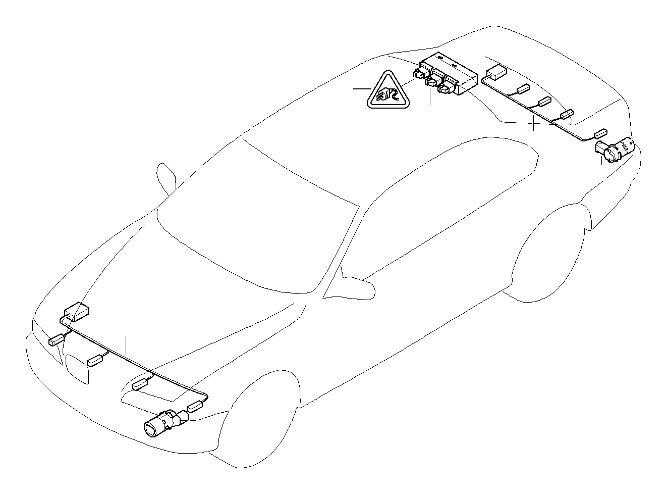 Bmw 545i Ultrasonic Sensor Carbonschwarz
