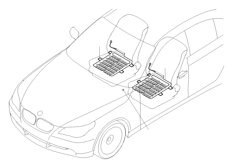 Bmw 745li Sensor Mat Front Seats Airbag Electrical Electric