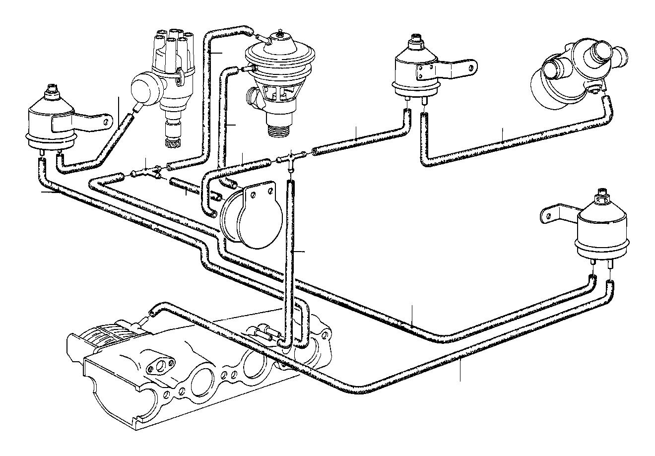 Bmw 318i Vacuum Hose White 3 3x1 8 Vacum Separator Choke