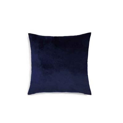 plain dark navy velvet throw pillow 50x50
