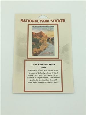Zion National Park Retro Ranger Passport Sticker
