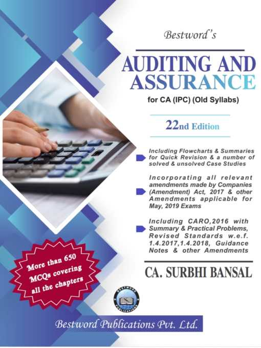 CA IPCC Auditing and Assurance Book by Surbhi Bansal