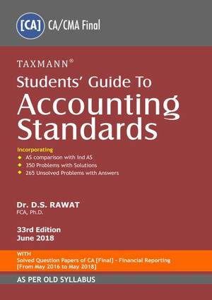 CA Final Accounting Standards Book by D S Rawat for Nov 2018 (Old syllabus)