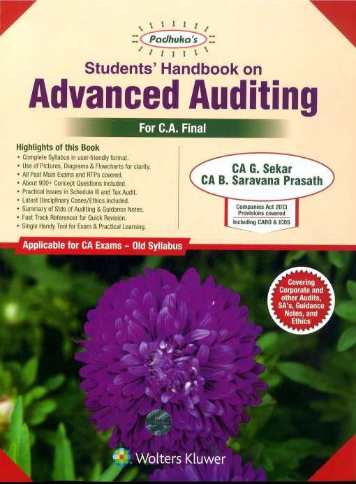 CA Final Audit Book by G Sekar for Nov 2018 Exam (Old Syllabus)