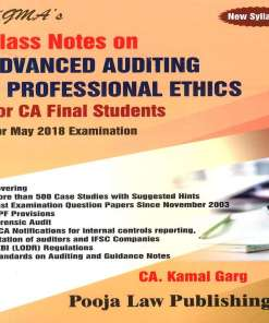 CA Final Audit Book by Kamal Garg for May 2018 Exam (New Syllabus)
