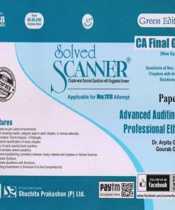 CA Final Audit Scanner by Arpita Ghose for May 2018 Exam (New Syllabus)