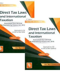 CA Final Direct Tax Book by Ravi Chhawchharia for May 2019 (Old, New Syllabus)