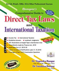 CA Final Direct Tax Detailed Book by Yogendra Bangar, Vandana Bangar for May 2019 (Old and New Syllabus)