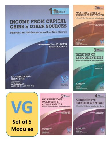 CA Final Direct Tax by Vinod Gupta (VG learning 5 Modules for Nov 2018)
