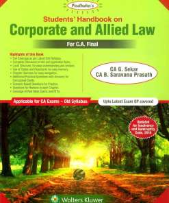 CA Final Law Book by G Sekar, B Saravana Prasath for May 2019 Old Syllabus