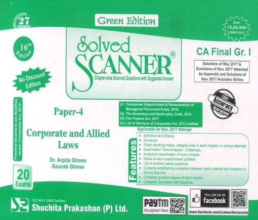 CA Final Law Scanner by Arpita Ghose, Gourab Ghose for May 2018