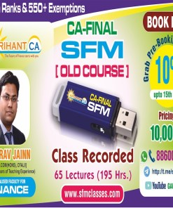 CA Final SFM Pen Drive Classes by CA Gaurav Jainn Nov 2018 (old syllabus)