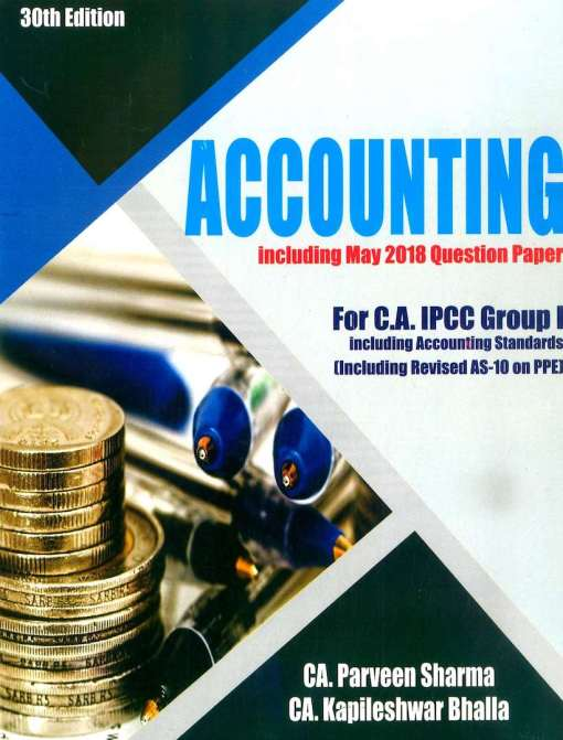 CA IPCC Accounting Book by Parveen Sharma Nov 2018 (Old Syllabus)