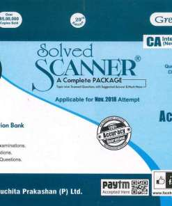 CA IPCC Accounting Solved Scanner by Gourab Ghose, Arpita Ghose for Nov 2018 Exam