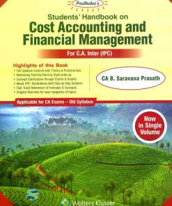 CA IPCC Costing FM Book by B Saravana Prasath for May 2019 (Old Syllabus)