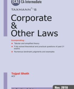 CA IPCC Law, Ethics Book by Tejpal Sheth for Nov 2018 (New Syllabus)