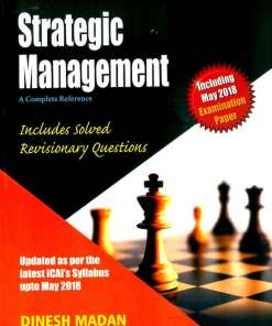 CA IPCC Strategic Management Book by Dinesh Madan for Nov 2018 Exam