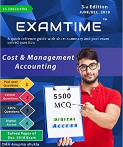 CS Executive Cost and Management Accounting Book by Anupama Shukla For June 2019 Exam