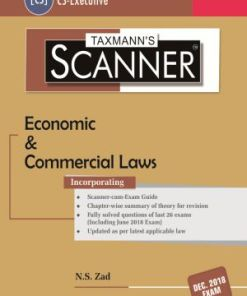 CS Executive Economic and Commercial Law Scanner by NS Zad for Dec 2018 Exam