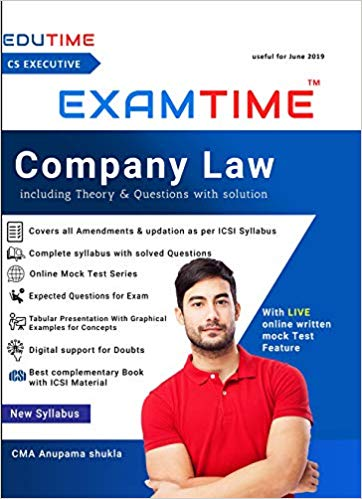 CS Executive Examtime company law by anupama shukla New Syllabus June 2019
