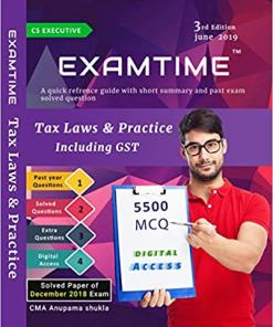 CS Executive Tax Laws and Practice book by Anupama shukla June 2019 Exam