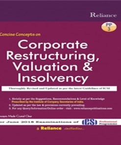 CS Professional Corporate Restructuring Book by SK Aggarwal, Abha Aggarwal For June 2018 Exam