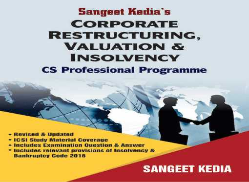 CS Professional Corporate Restructuring Book by Sangeet Kedia For June 2018 Exam