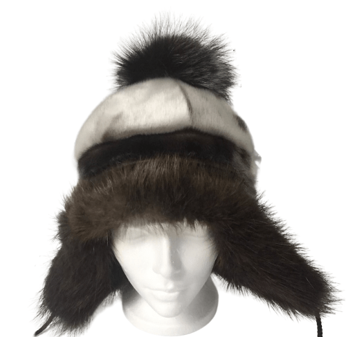 1_GNP_All_Natural_Seal_Skin_Hat_Silver_Fox_Pomom_Front