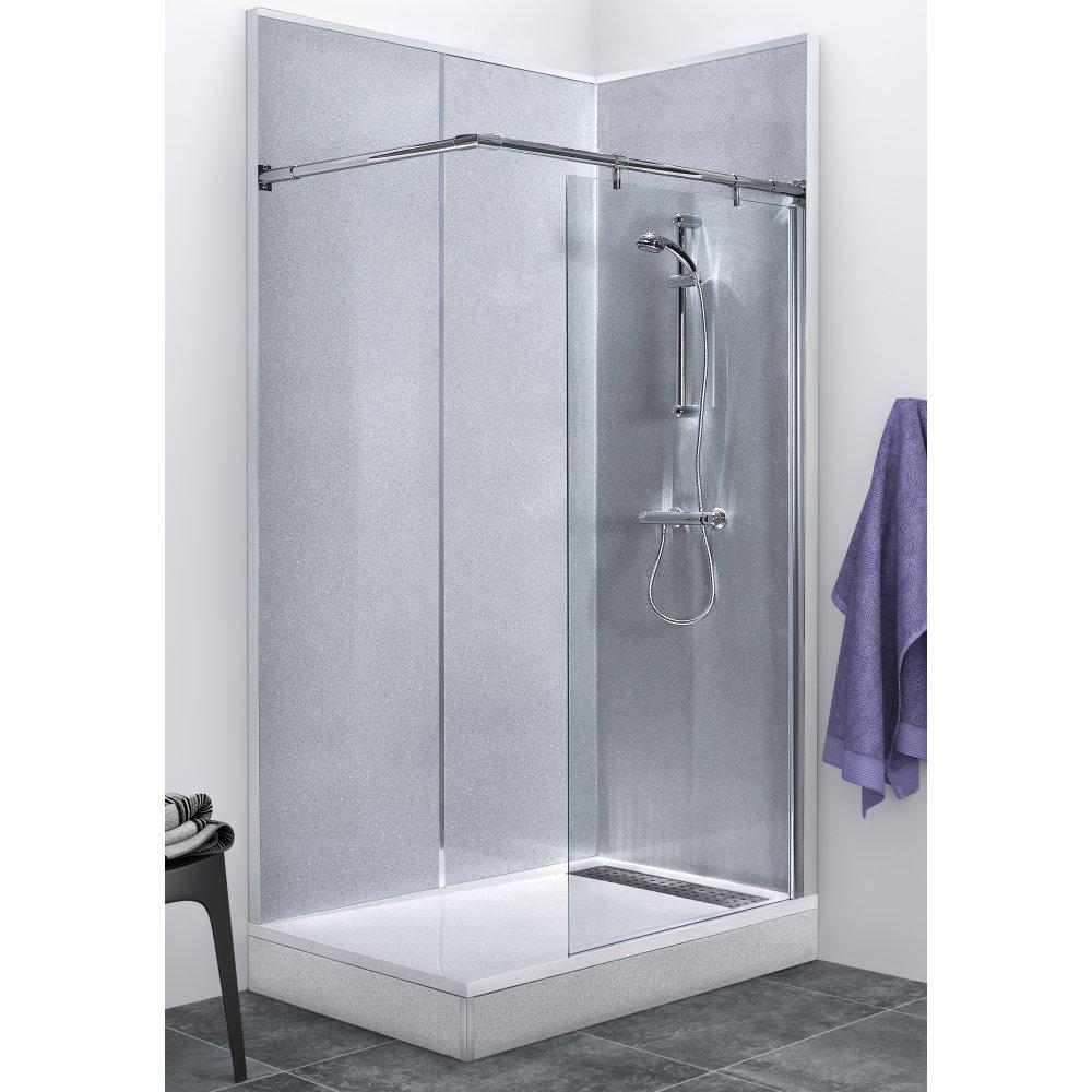 kit paroi vitree 60 cm barres pour cabine espace douche