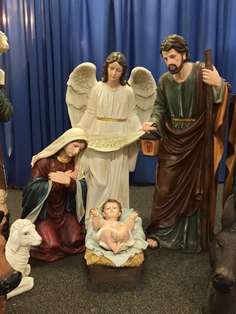 48 Large Scale Fiberglass Nativity Set