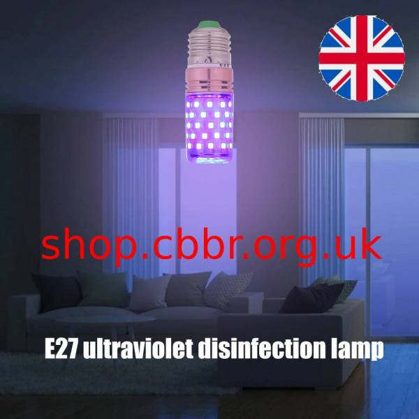 Ultraviolet Disinfection Light Bulb E27 60LED UVC Sterilize Germicidal Corn Lamp Light Kitchen Bedroom Hospital