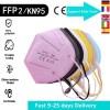 FFP2 MASK Adult Black KN95 mas pink mast blue mask