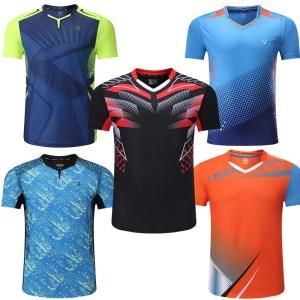 sports t shirt Badminton shirts Men workout t shirt Tennis shirts Male table tennis tshirt Quick dry Fitness training tshirts
